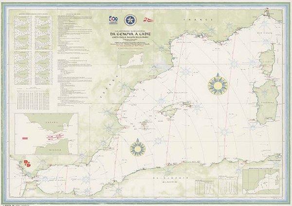 Da Genova a Cadiz – Carta della regata di Colombo
