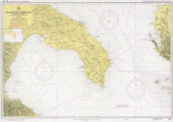 Mappa Nautica Puglia.Da Punta Alice A Torre Canne E Canale D Otranto Edizioni Magnamare