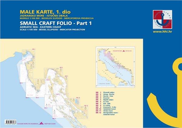 Male Karte 1 – Dal Golfo di Trieste al Canale di Zara