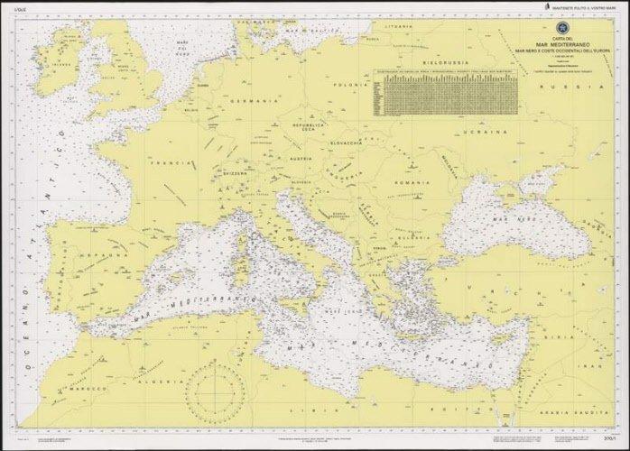 Mar Mediterraneo, Mar Nero e coste occidentali dell'Europa