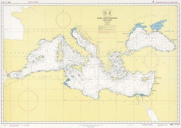 Mare Mediterraneo Cartina.Mar Mediterraneo E Mar Nero Edizioni Magnamare