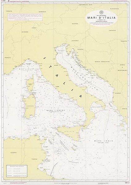 Mari d'Italia – Carta indicativa dei confini marittimi e delle linee di base